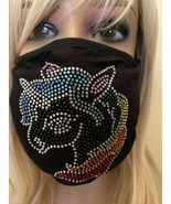 Rainbow Unicorn Bling Rhinestone Face Mask With Filter - $17.33