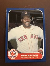 MINT 1986 Boston Red Sox Fleer Update #10 Don Baylor Factory Set Break - $1.99