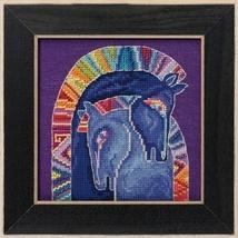 Embracing Horses 2017 Horse Collection AIDA cross stitch kit Laurel Burch  - $16.20