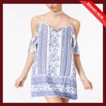 Trixxi Juniors Cold-Shoulder Shift Dress - $7.26