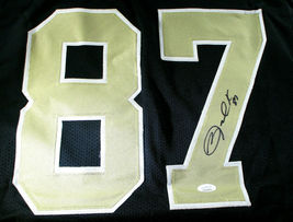 JARED COOK / AUTOGRAPHED NEW ORLEANS SAINTS CUSTOM FOOTBALL JERSEY / JSA COA image 3