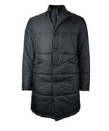7193-2 Brooks Brothers Dark Blue Quilted Down Parka Jacket Coat XL XLarg... - $356.38