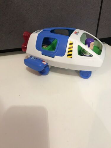 Primary image for Fisher Price Toy Story Little People Buzz Lightyear Space Ship Figure sound ligh
