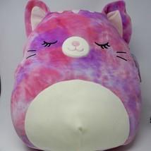 "Squishmallows Kellytoy 2021 Sleepy Eye Caeli the Tie Dye Cat 16"" Plush D... - $49.45"
