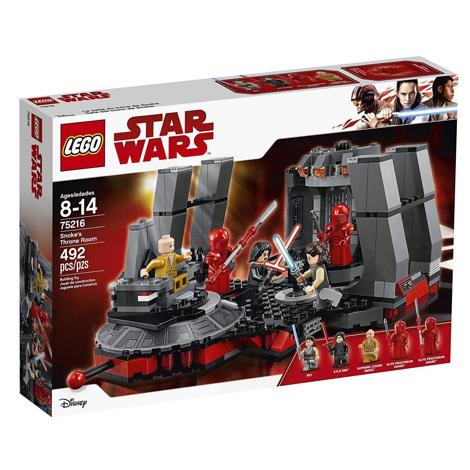 Lego Star Wars Snoke's Throne Room (75216 New) Building Set