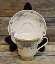 Royal Doulton Juliet Romance Footed Cup & Saucer England H5077 - $9.90