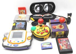 10 pc Video Game Lot Joysticks+Console+Genesis+Sega+Nintendo+Game Cartri... - $37.39