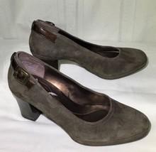 Rockport Mirey Women Shoe 6.5M Pump Work Career Cushion Suede Brown  - $27.99