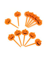 Halloween Orange Pumpkin Dessert Treat Decoration Cocktail Appetizer Foo... - £3.38 GBP+