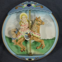 Hold on to Your Dreams Collector Plate Carousel Daydreams 3-D Musical An... - $39.95