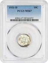 1931-D 10c PCGS MS67 - Mercury Dime - $940.90