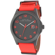 BRAND NEW MARC JACOBS MBM5060 JIMMY BRIGHT RED LEATHER GUNMETAL CASE MEN... - £91.67 GBP