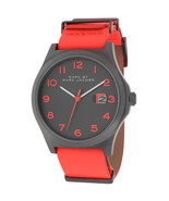 BRAND NEW MARC JACOBS MBM5060 JIMMY BRIGHT RED LEATHER GUNMETAL CASE MEN... - €105,59 EUR