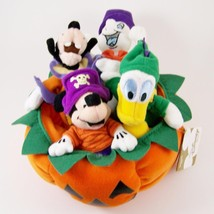 Halloween Mickey Pumpkin Mini Bean Bag Beanies Disney Store Plush Casper... - $32.97