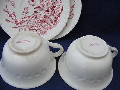 2 Vintage Wedgwood Ranucaculus Cup & Saucer Sets