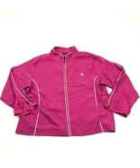 Champion Elite Track Jacket Windbreaker Women's Size Extra Large Pink Fu... - $27.33