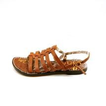 Sam Edelman Womens Garland Leather Strappy Flat Sandals Brown 5.5 New - $49.49