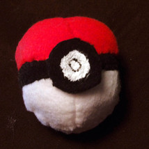 Pokemon Handmade Palm-Sized Pokeball Plush | Nintendo Gaming Geek Easter - $7.92