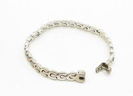 MEXICO 925 Silver - Vintage Smooth Petite Wrench Link Chain Bracelet - B6240 image 3