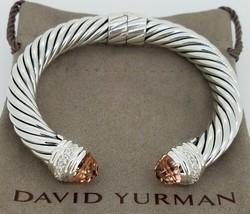 David Yurman Sterling Silver Morganite And Diamonds 10MM Cable Bracelet - $749.99