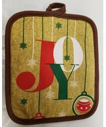 "Set of 2 Same Printed JUMBO Pot Holders,7""x8"",CHRISTMAS, WINTER ORNAMENT... - $8.90"