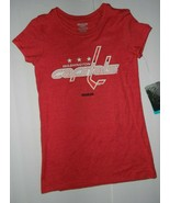 Reebok Washington Capitals NHL Hockey Womens Shirt Ovechkin 8 Small Red - $15.75