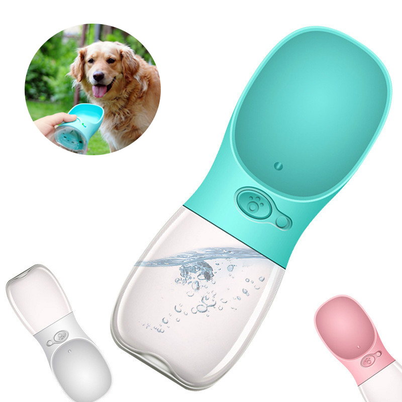 350ml Portable Pet Dog Water Bottle Travel Dog Bowl Cups: 350ML Portable Pet Dogs Water Bottle Travel Bowl Cups Cats