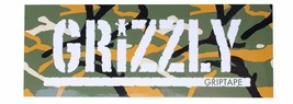 "Grizzly Griptape Olive Green Orange Branch Camo 8"" Sticker Skateboard Decal NEW"