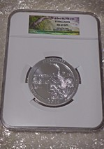 2014 ATB 5oz .999 Silver Coin Everglades Nat. Park NGC MS69 DPL On Sale Low Pop.