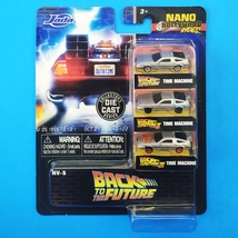 "Jada Nano Hollywood Rides: 1.65"" Back to the Future Time Machine Set - $9.00"