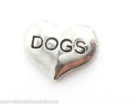 10pc Lot Love Heart Dogs Pet Floating Charm For Glass Memory Locket Neck... - $7.91