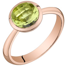 Women's 14k Rose Gold Round Peridot Solitaire Ring - $399.99