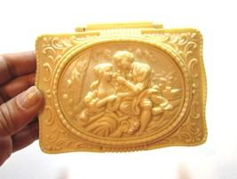 Antique Art Nouveau Victorian Old Ornate Beautiful Celluloid Jewelry Box... - €64,36 EUR