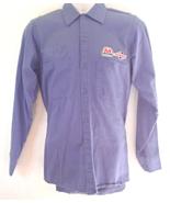 Marathon Ashland Oil Shirt Mens Size Small Blue Vintage Uniform Gas Oil ... - $13.99