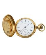 A.W. Co Waltham 14k Yellow Gold Circa 1890s Manual Wind Pocket Watch - £2,512.09 GBP