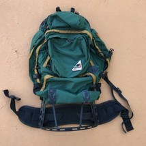 Vintage Coleman Peak External Frame Backpack Hiking Camping Made in USA Blue - $105.00