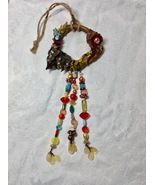 Wall Hanging Office Home Door Decoration Wreath Type Beaded Polymer Clay... - $70.00