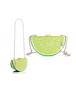 Kate Spade Breath of Fresh Air Jeweled LIME Slice Clutch Bag PXRU6836 SO... - €188,83 EUR