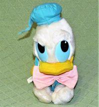 "Vintage BABY DONALD DUCK 10"" 1984 Disney Plush PLASTIC TAG Stuffed Animal  KOREA image 3"