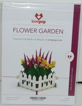 Lovepop LP1038 Flower Garden Pop Up Card with White Envelope Cellophane Wrapped image 6
