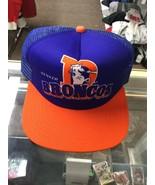 NWOT Vintage Denver Broncos New Era Mesh Trucker Foam Snapback Hat Cap New - $59.39