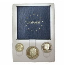 1976 S Proof Set 3 Piece  40% Silver With Outer White Box OGP - $31.50