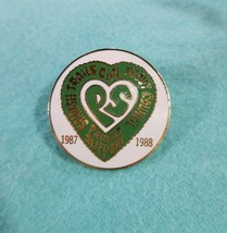 Vintage 1987-88 Spanish GSA Girl Scout Parent Support PS Lapel PIN Green... - $14.54
