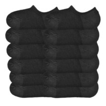 Angelina 12 Pair Pack Non-Slip Silicone Patch Cotton No Show Socks xx911 Black image 2