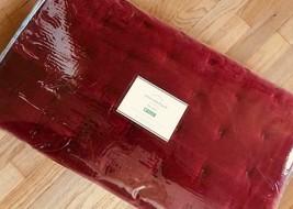 Pottery Barn Velvet Tufted Quilt Set Ruby Red Queen 2 Standard Sham Christmas - $399.00