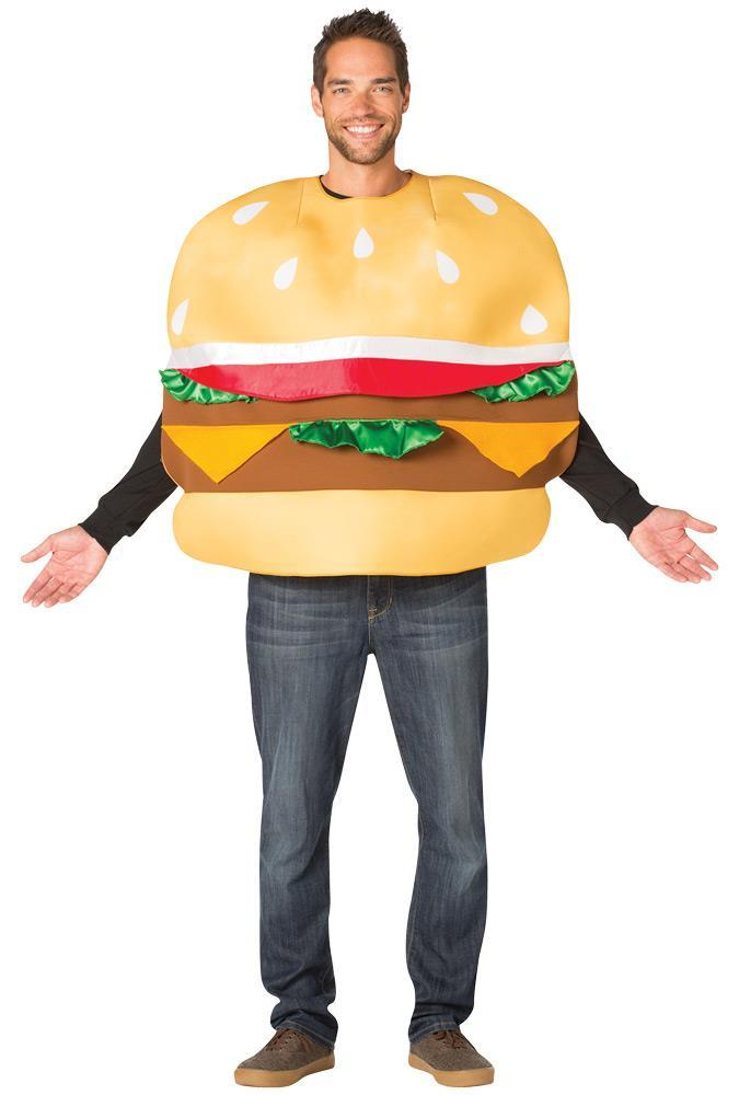 Slider Costume Adult Food Cheeseburger Halloween Party Unique Cheap GC7575