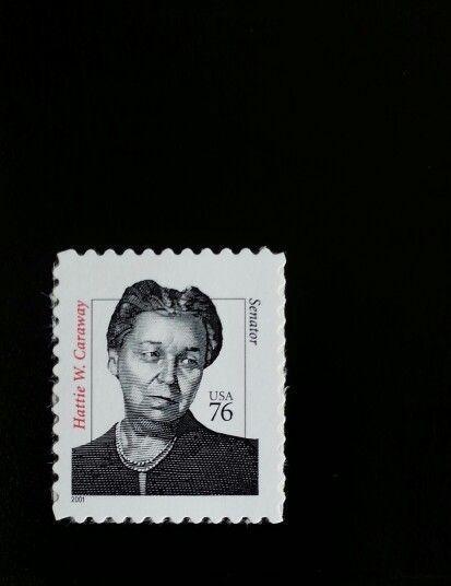 2001 76c Hattie W. Caraway, First Woman Senator, Arkansas Scott 3431 Mint VF NH - $1.79