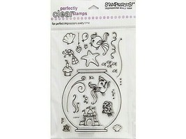 Stampendous Sushi Bowl Party Clear Cling Stamp Set #SSC194