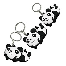 PANDA SUPERSTORE Set of 3 Lovely Key Chain Portable Car Keychain Key Rings image 2