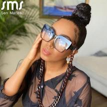 2021 Anti-blue Big Glasses Frames Optical Women Sunglasses Retro Oversized Eyegl image 5